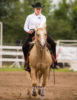 A K-State equestrian team member focuses on riding during the Equitation on the Flat competition on Oct. 5, 2012.
